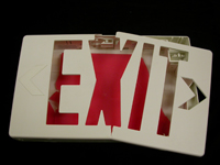 Replace broken electrical exit signs with AddLight Photoluminescent Exit Signs