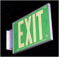 8.924G-2-F-B - AddLight Photoluminescent Exit Signs tested & evaluated to the UL924 performance standard can be used instead of electrical signs