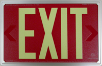AddLight Photoluminescent Exit Signs with our NEW Low-Profile Frame