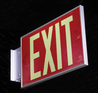 8.924R-2-F-B - AddLight Photoluminescent Exit Signs tested & evaluated to the UL924 performance standard can be used instead of electrical signs